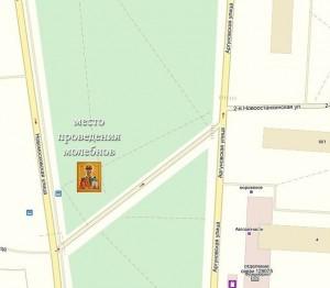 Карта храма в Останкине